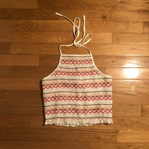 American Eagle Cropped Halter Top